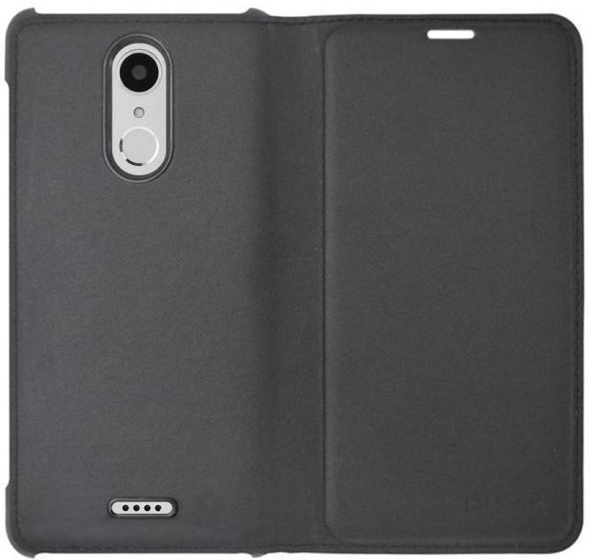 COVERNEW Flip Cover for Micromax Canvas Selfie 4 Q349 Black
