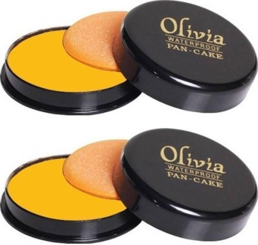 Olivia Pan cake waterprof Concealer - pack of 2 Compact  - 25 g