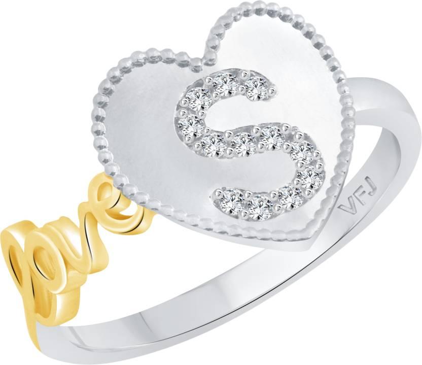 vighnaharta valentine love s alphabet in heart alloy cubic