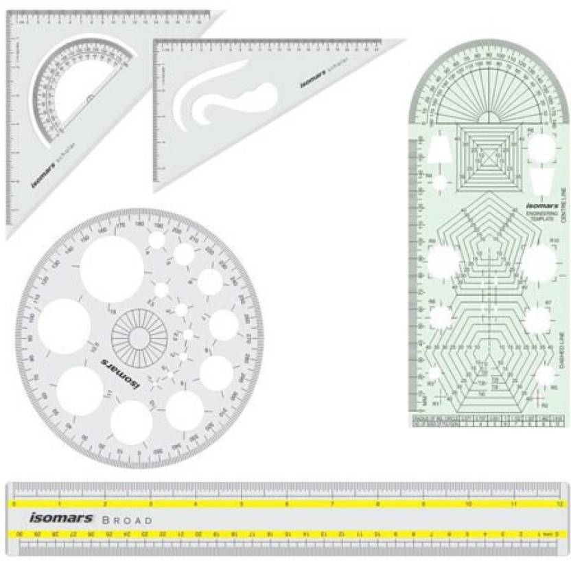 flipkart com isomars engineering template combo ruler