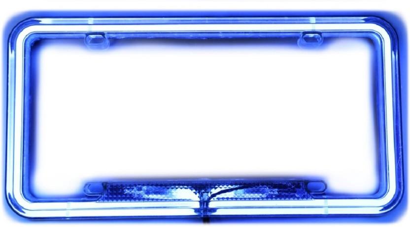 Speedwav Car Styling License Plate Frame Neon Light Blue Car Number Plate