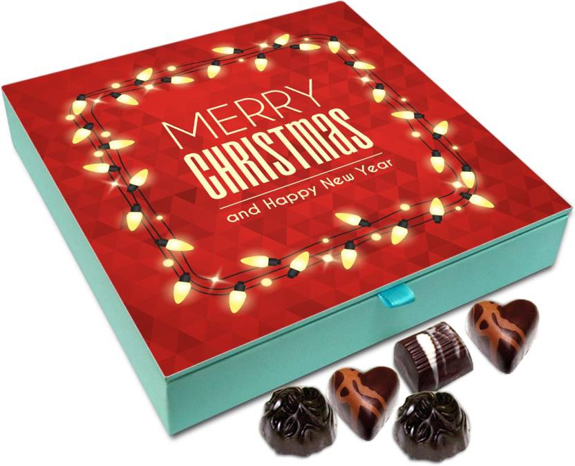chocholik christmas gift box merry christmas and happy new year chocolate box 9pc truffles