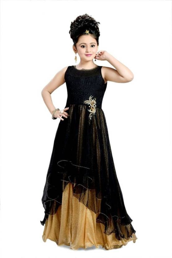 a8615ff41bd Xomantic Fashion Girls Maxi Full Length Party Dress Price in India ...