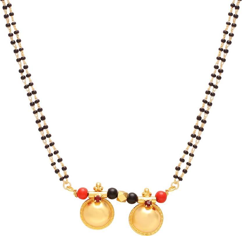 a2f3473b4ecc0 Memoir Gold plated Dual Wati traditional Mangalsutra Women jewellery Brass  Mangalsutra