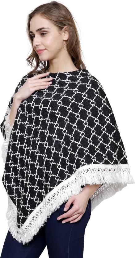 b5ca3333c1 Sheetal Women Winter Wear Kashmiri Wool Poncho - Buy Sheetal Women Winter  Wear Kashmiri Wool Poncho Online at Best Prices in India | Flipkart.com