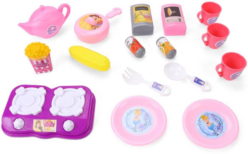 e0155dd1 Disney Princess Kitchen Set - Set Of 16 Pieces - Princess Kitchen Set - Set  Of 16 Pieces . Buy Ariel, Rapunzel, Belle, Cinderella, Snow White toys in  India. ...