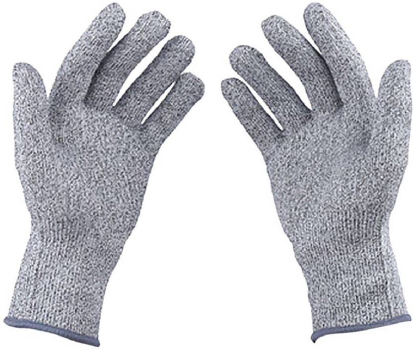 Italish 1 Pair Cut Resistant Gloves Food Grade Level 5 Protection Working  Cutting Leather Safety Gloves
