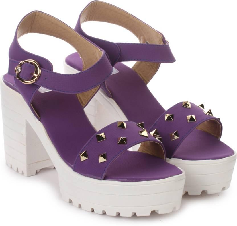 London Steps Women Purple Wedges Buy London Steps Women Purple