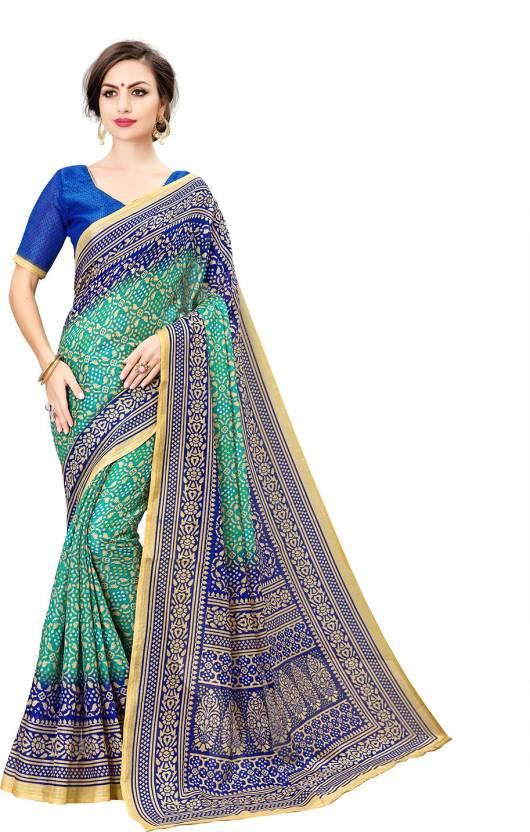 5c2dae58729ab Buy Sariya Printed Bandhani Silk