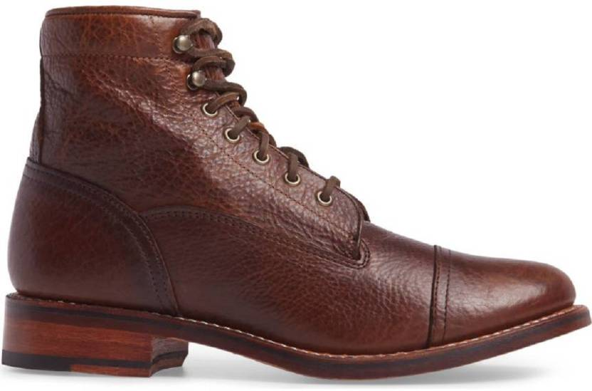 a112fee32f0f bag jack Ariat Highlands-Cap Toe-leather sole-handcrafted brown color leather  boot Boots For Men (Brown)