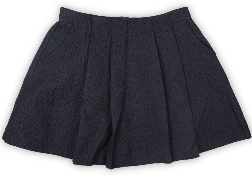 f6bd0f3368c0 United Colors of Benetton Self Design Girls Pleated Black, Blue Skirt - Buy  Black United Colors of Benetton Self Design Girls Pleated Black, ...