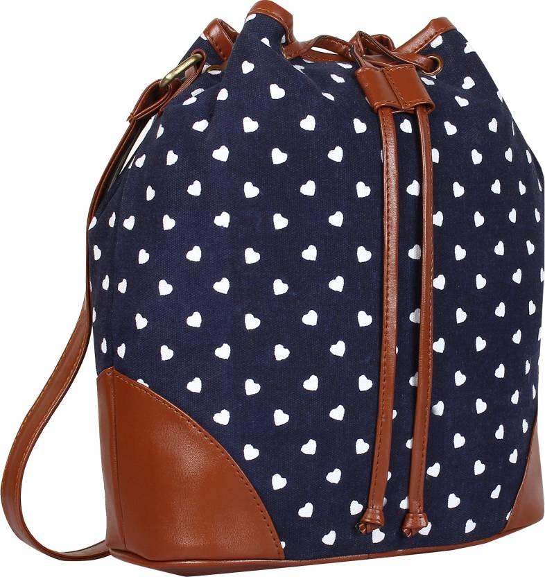 755fe6f9c4b3 Lychee Bags Women Casual Blue Canvas Sling Bag Blue
