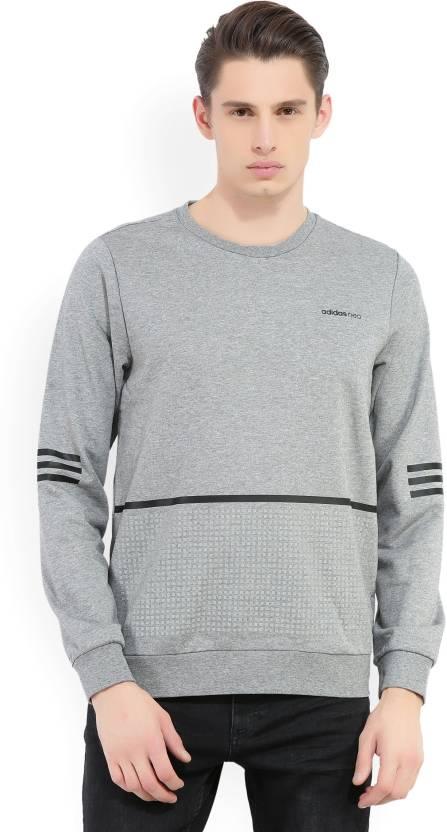 ADIDAS NEO Full Sleeve Solid, Printed Men's Sweatshirt