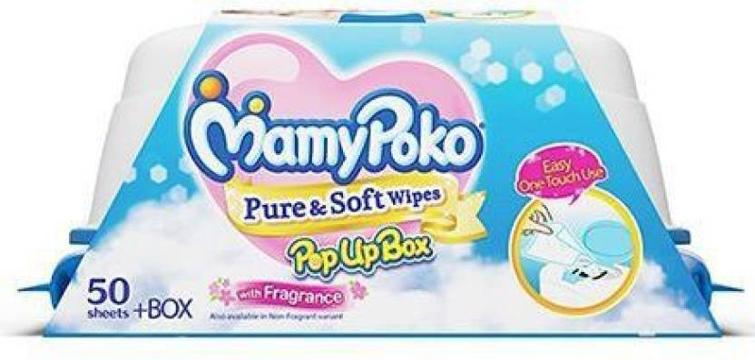 MamyPoko Pure and Soft Wipes Box-Fragrance
