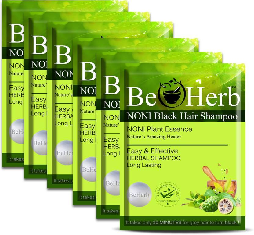 Anand India BeHerb Noni Black Hair Magic Shampoo Hair Color (Black)