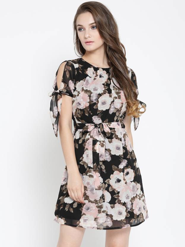79dc7c376f254 Sera Women A-line Multicolor Dress - Buy Sera Women A-line Multicolor Dress  Online at Best Prices in India