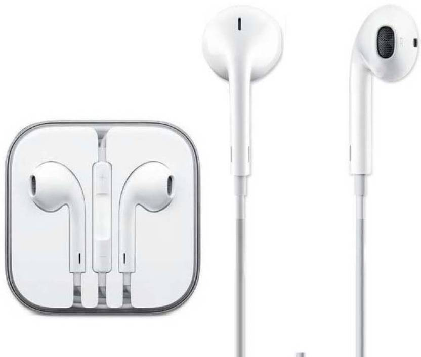 0af6033b240 KBOOM Stereo Earphone Apple iPhone 5 5S 6 6S EarPods Earphones W/Remote &  Mic Wired Headset with Mic (White, In the Ear)