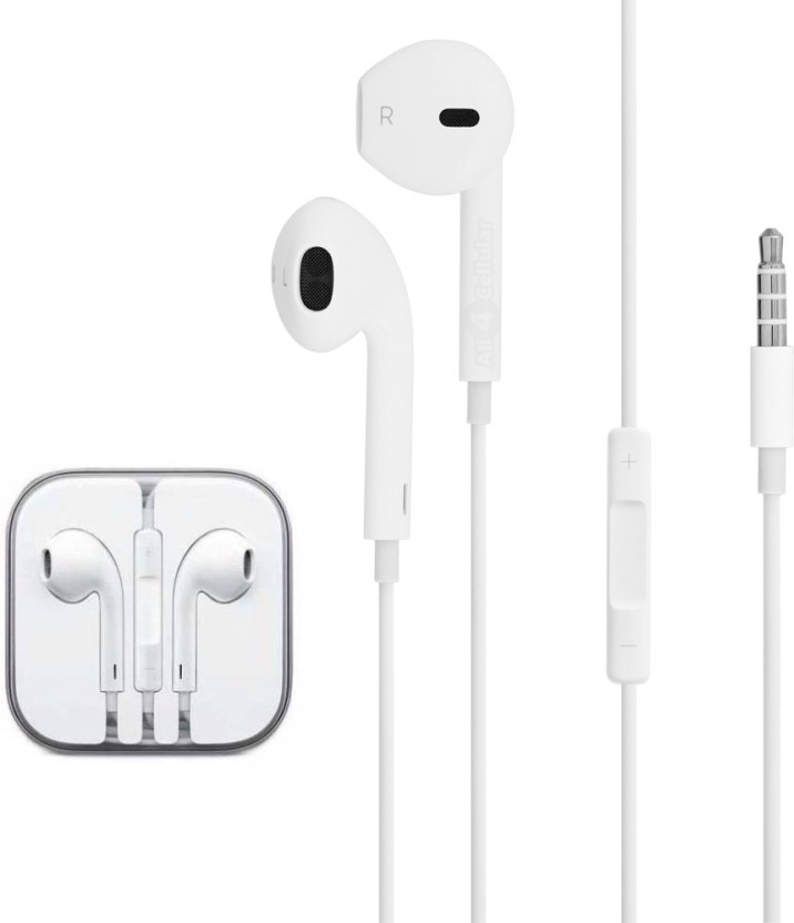KBOOM Original Genuine Apple iPhone 5 5S 6 6S EarPods Earphones with  Excellent Sound Quality,With Full Supported Mic Wired Headset with Mic