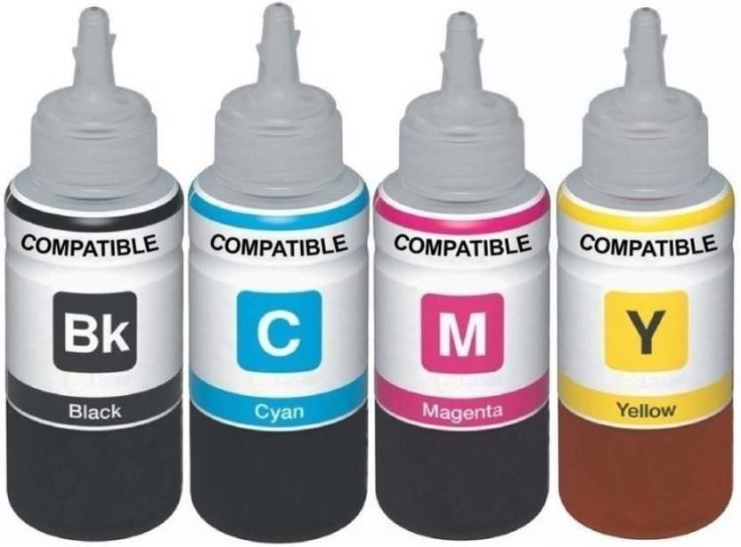 Dubaria Refill Ink For Use In Brother J 3520 / 3720 Printers Compatible With Brother LC 589 / 583 - Cyan, Magenta, Yellow & Black - 100 ML Each Bottle Multi ...