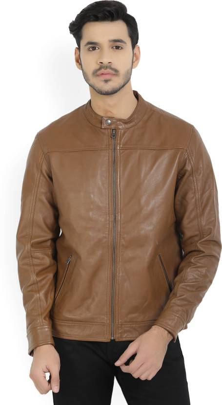 44e0b7ac52e LP Jeans by Louis Philippe Full Sleeve Solid Men s Jacket - Buy Medium  Brown Solid LP Jeans by Louis Philippe Full Sleeve Solid Men s Jacket Online  at Best ...