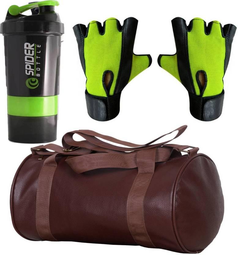 Cp Bigbasket Combo Set Leather Soft Gym Bag (Brown) d0ad6951814eb