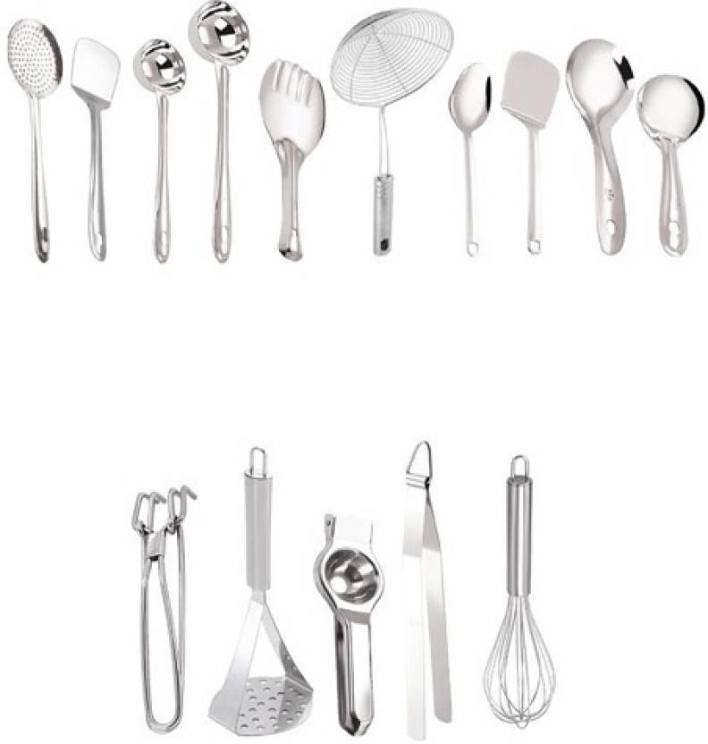 Continental Cooking and Serving Tools Set of 15 Stainless ...