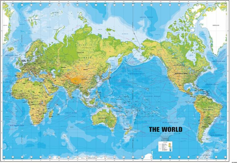 World Map Peel and Stick Wall Poster ( 24 X 36 Inch) Paper Print ...