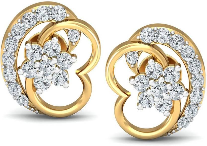 e3943bbac Avnni By Nakshatra Designer Yellow Gold 14kt Diamond Stud Earring Price in  India - Buy Avnni By Nakshatra Designer Yellow Gold 14kt Diamond Stud  Earring ...