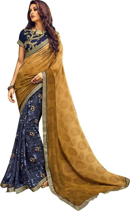 8037eb29ad Buy Craftsvilla Printed Fashion Georgette Multicolor Sarees Online ...