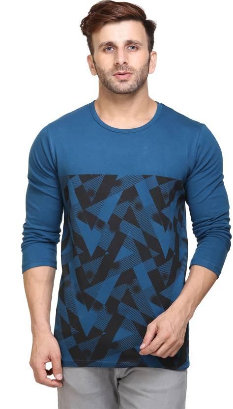 53044232 Unisopent Designs Abstract Men Round Neck Blue T-Shirt - Buy Unisopent  Designs Abstract Men Round Neck Blue T-Shirt Online at Best Prices in India  ...
