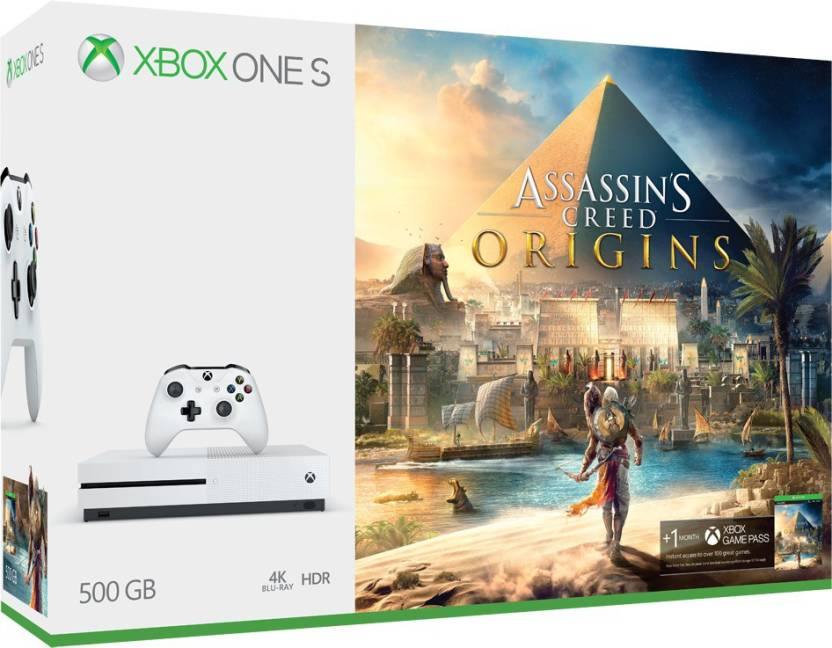 Microsoft Xbox One S 500 GB with Assassin's Creed Origins