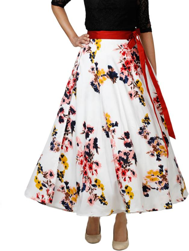 9cafbef052 DeeVineeTi Floral Print Women Wrap Around Multicolor Skirt - Buy DeeVineeTi Floral  Print Women Wrap Around Multicolor Skirt Online at Best Prices in India ...