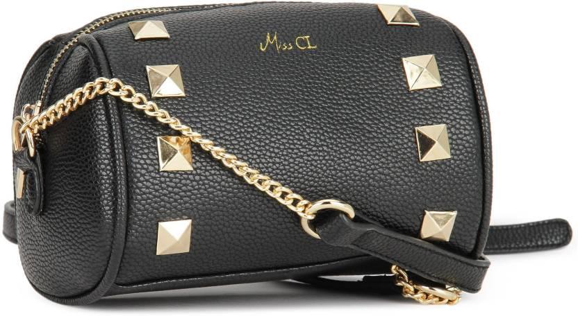 b63697df47c Miss CL By Carlton London Women Evening Party Black PU Sling Bag ...