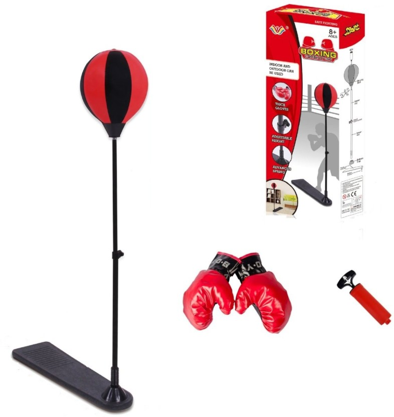 NEW Adjustable Height Boxing Set Kids Gloves and Bag Training Sport Punching Bal