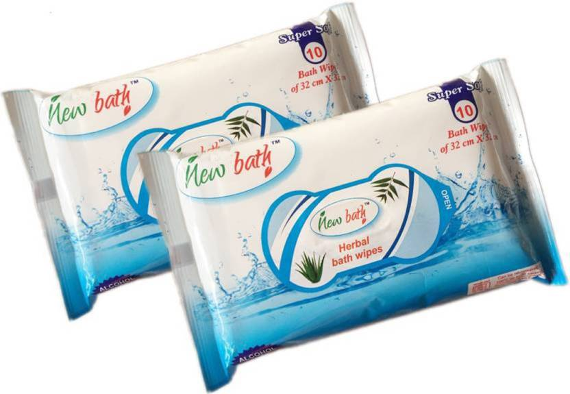 HealthEmate New Bath Herbal wet wipes
