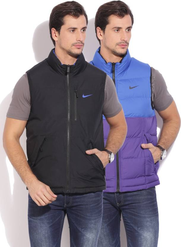 20d446d0acb26 Nike Sleeveless Solid Men s Jacket - Buy BLACK Nike Sleeveless Solid Men s  Jacket Online at Best Prices in India