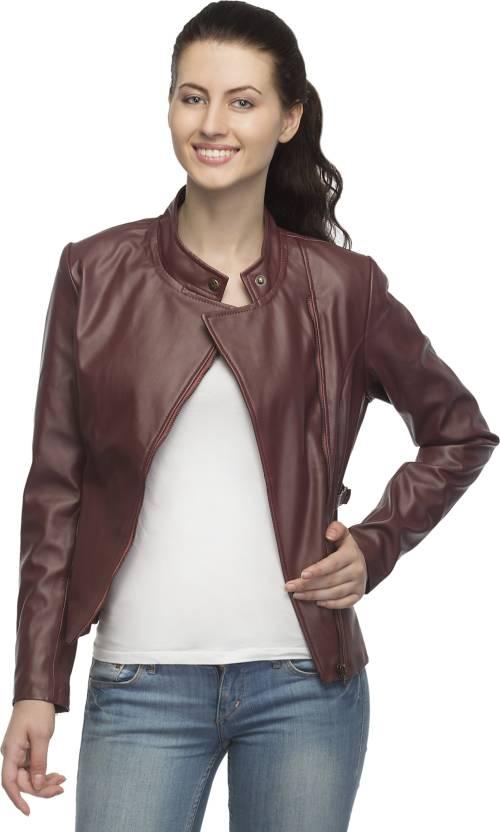 ad2595099 Lambency Full Sleeve Solid Women's Biker Jacket