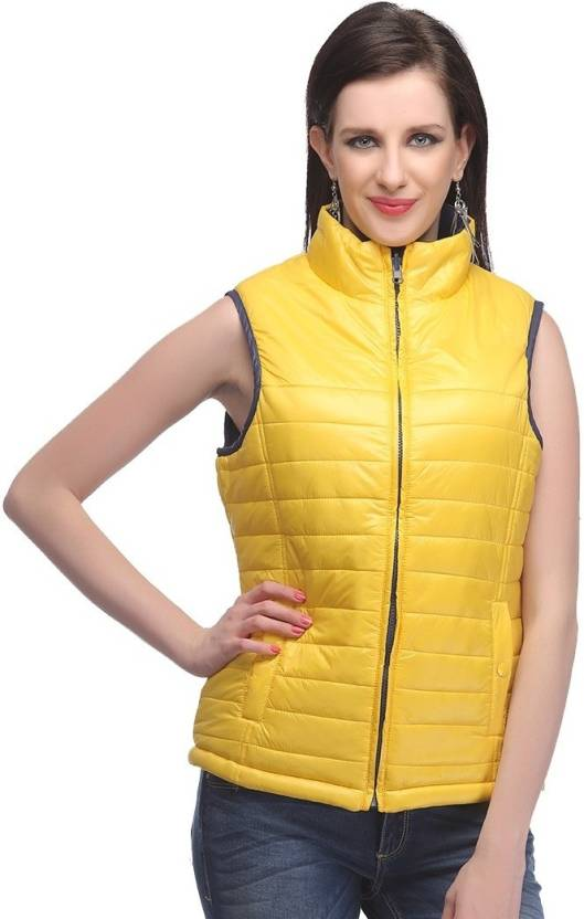d896dff79e0 Madame Sleeveless Solid Women s Jacket - Buy Yellow Madame ...