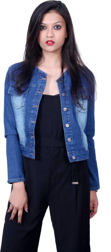 3c9c2ebcba7 Style Souk Full Sleeve Solid Women s Denim Jacket - Buy Blue Style ...