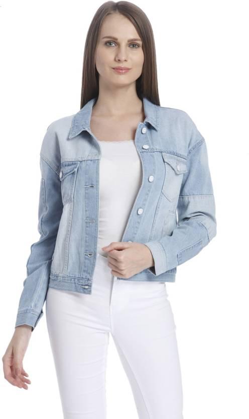 b1d215c2cd80 Vero Moda Full Sleeve Solid Women s Jacket - Buy Light Blue Denim Vero Moda  Full Sleeve Solid Women s Jacket Online at Best Prices in India