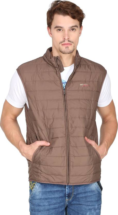 709bdefb2377e Mufti Sleeveless Solid Men s Jacket - Buy Brown Mufti Sleeveless Solid Men s  Jacket Online at Best Prices in India