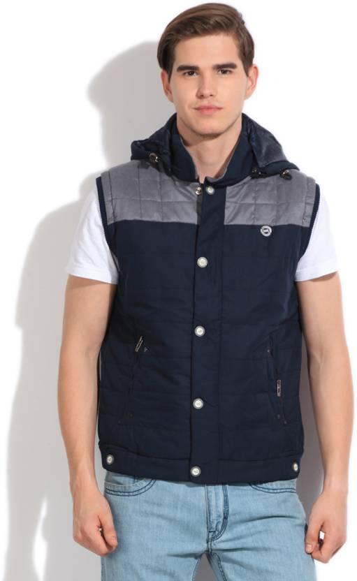 edd1fce94389 LAWMAN PG3 Sleeveless Solid Men's Jacket - Buy NAVY LAWMAN PG3 Sleeveless  Solid Men's Jacket Online at Best Prices in India | Flipkart.com