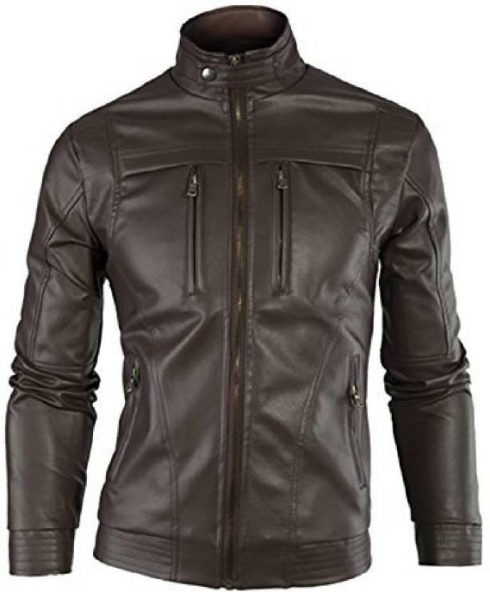 Zahr Full Sleeve Solid Men's Jacket - Buy Brown Zahr Full