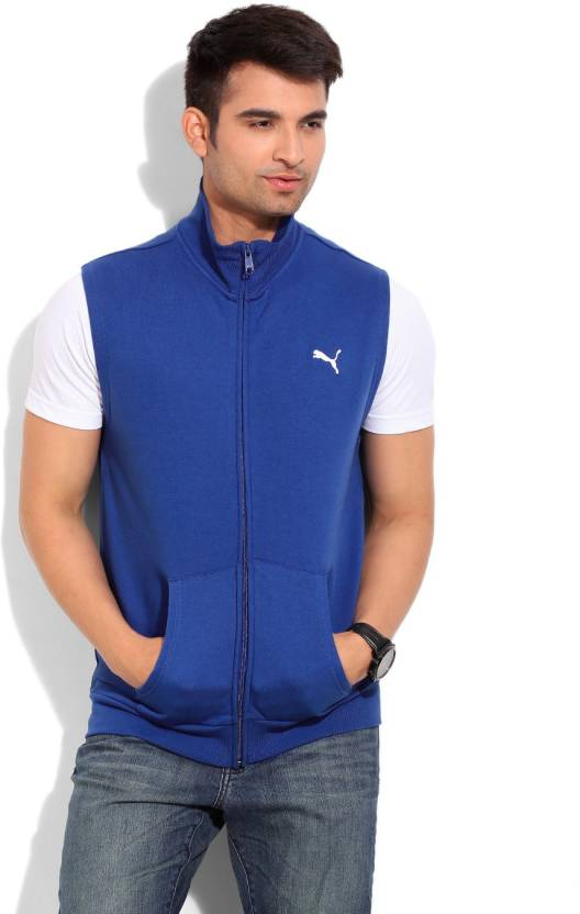161bb77a6981 Puma Sleeveless Solid Men s Jacket - Buy blue Puma Sleeveless Solid Men s  Jacket Online at Best Prices in India