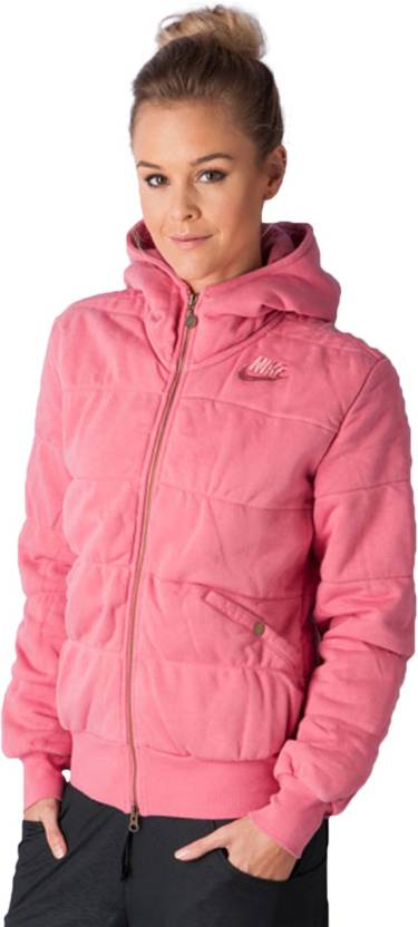 Nike Full Sleeve Solid Women's Jacket Buy Pink Nike Full