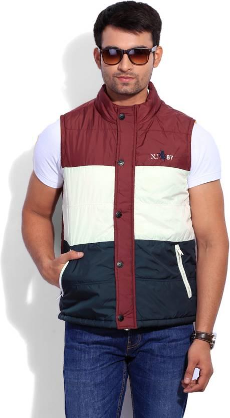 Numero Uno Sleeveless Striped Men's Jacket