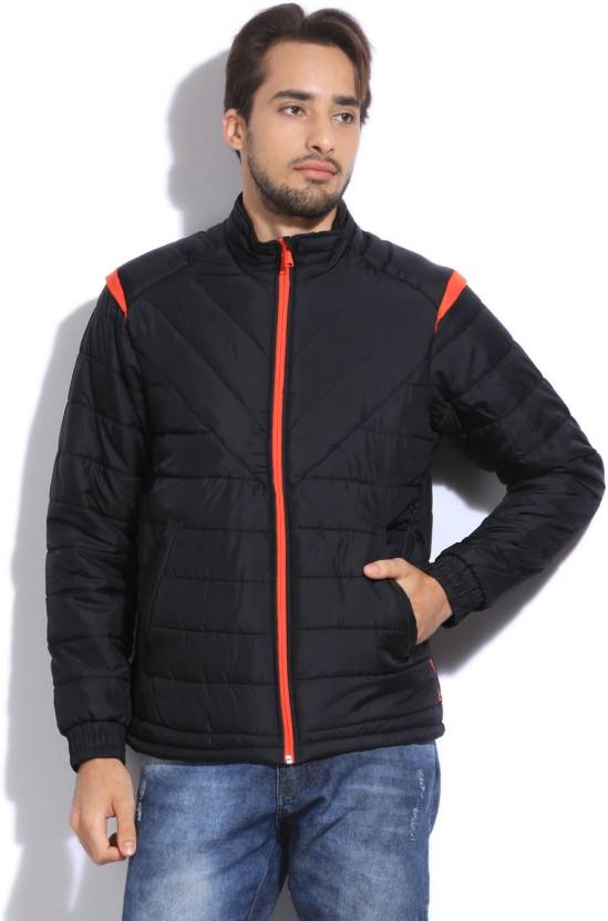 8f2aac01c REEBOK Full Sleeve Solid Men s Quilted Jacket - Buy BLACK REEBOK Full  Sleeve Solid Men s Quilted Jacket Online at Best Prices in India