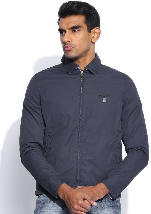 Lee Full Sleeve Solid Men's Jacket