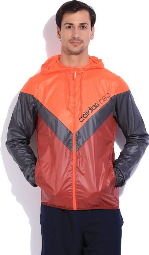 a72a88b75c53 ADIDAS Full Sleeve Solid Men s Wind Cheater Jacket - Buy RED ADIDAS Full  Sleeve Solid Men s Wind Cheater Jacket Online at Best Prices in India