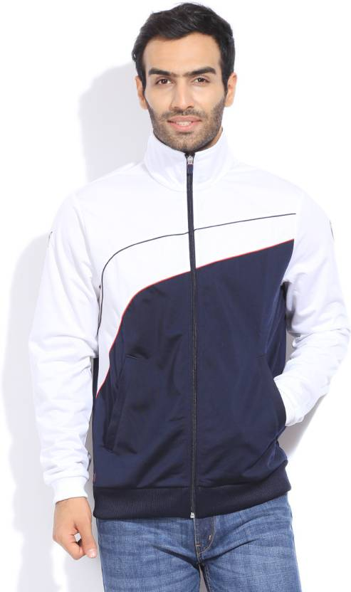 f1b183546f9 Puma Full Sleeve Solid Men s Jacket - Buy white-bmw team blue Puma Full  Sleeve Solid Men s Jacket Online at Best Prices in India